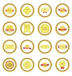 Retail label set cartoon style vector image
