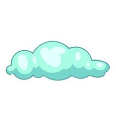 sleet cloud icon cartoon style vector image