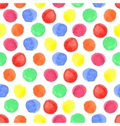 Watercolor colored polka dot seamless patternBaby vector image vector image