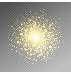 firework salute magic light effect stars burst vector image