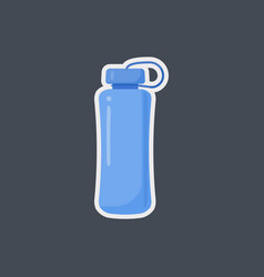 fitness water bottle flat icon vector image