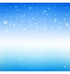 Star night and snow fall bakcground 005 vector image