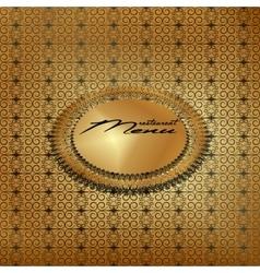 Vintage menu cover gold 3 vector image