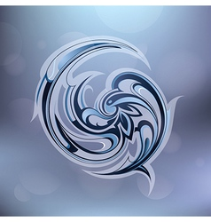 Water swirl vector image