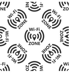 Wi-fi network icon seamless pattern vector