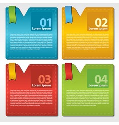 Abstract colorful set of square banner vector image