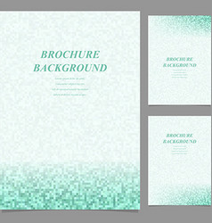 Abstract page template background set vector image