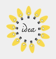Creative idea in bulbs shape idea concept vector image