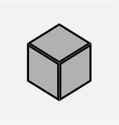 nintendo cube icon gray vector image