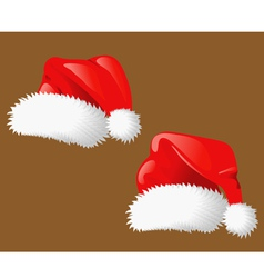 Set of christmas hats Santa Claus vector image vector image