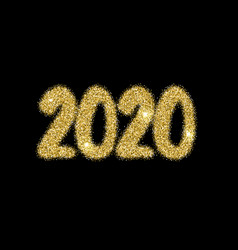 2020 new year numerals bright firework explosion vector