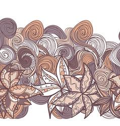 Abstract seamless hand-drawn border vector
