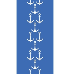 Anchors blue and white vertical border seamless vector image