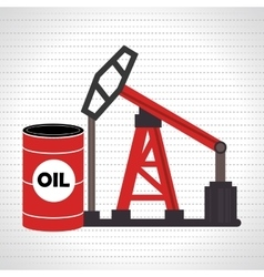 barrel and petroleum isolated icon design vector image