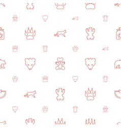 Bear icons pattern seamless white background vector