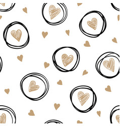 beautiful monochrome gold black and white vector image