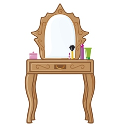 bedroom mirror vector image