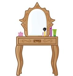Bedroom mirror vector