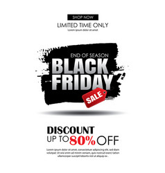 Black friday sale flyer template white background vector