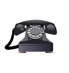 Black telephone vector