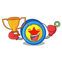Boxing winner yoyo mascot cartoon style vector