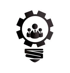 Bulb light with gear vector