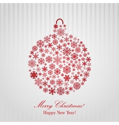 Christmas background with Christmas ball vector
