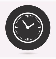 Clock time icon deadline symbol vector