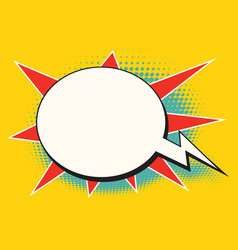 comic bubble bomb cloud vector image