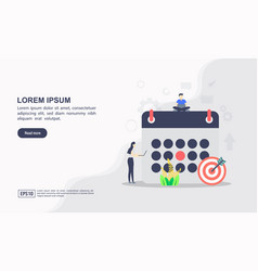 concept scheduling modern conceptual for vector image