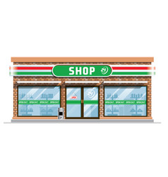 convenience store building vector image