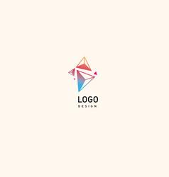 creative logo multicolored geometric crystals vector image