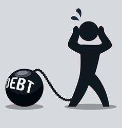 Debt design vector