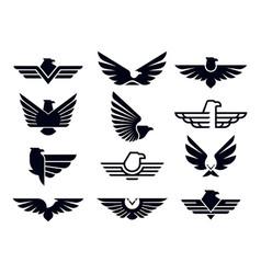 eagle symbol silhouette flying eagles emblem vector image