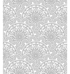 Ethnic shell seamless pattern vector image