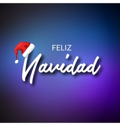 Feliz Navidad Merry Christmas card template with vector