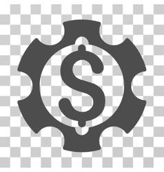 Financial Development Gear Icon vector