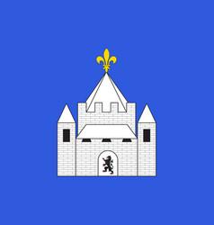 Flag of provins in seine-et-marne france vector