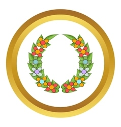 Funeral wreath icon vector image