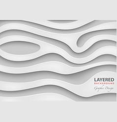 geometric layered background vector image