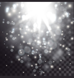 glowing light and particles effect vector image