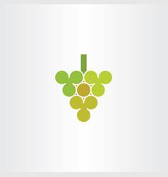 grape logo symbol element vector image