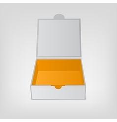 Gray squared box orange color inside Open box vector