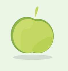 green apple icon ecology and bio food concept vector image