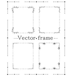 Hand drawn frame decorative elements floral vector