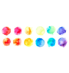 hand drawn sketch abstract watercolor splashes vector image