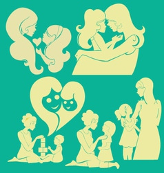 Happy Mother 1 vector image