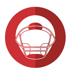 helmet american football front view shadow vector image