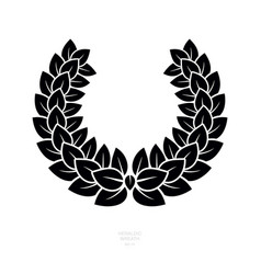 heraldic wreath icon honor or quality or reward vector image