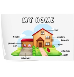 Home Diagram vector